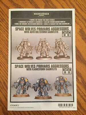 Warhammer 40k Space Marine Primaris Aggressor Squad Space Wolves
