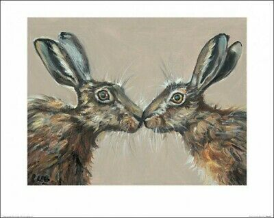 Mr Tweed Art Print  PPR51079  60 x 80cm Hare Rabbit Louise Brown