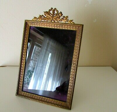 ANTIQUE ORMOLU GILT BRONZE 19 th C FRENCH LARGE PICTURE FRAME 7.75'' BRONZE BACK