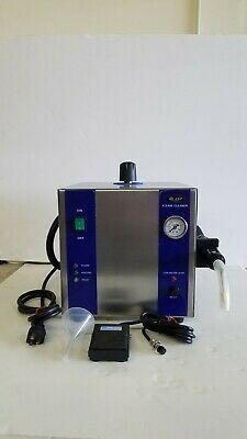 Dental Lab Steamer with Wand-  2.5 Liter capacity with Foot Pedal + Funnel
