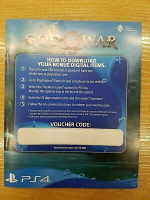 God of War Pack DLC Code ONLY PS4 Sony PLAYSTATION 4 NO GAME