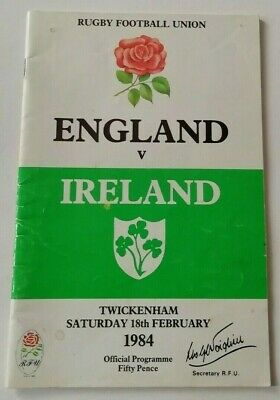 England v Ireland 1984 Rugby Union Five Nations Championship Match Programme