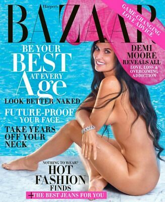 DEMI MOORE - Harper's Bazaar Magazine - October 2019 - BRAND NEW