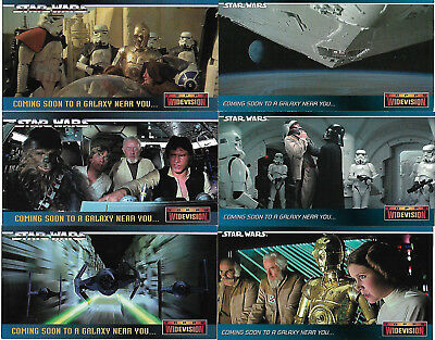 Star Wars ANH Widescreen 7 Rare Promo Card Set  SWP1 - SWP6 - SW0 TOPPS 1995