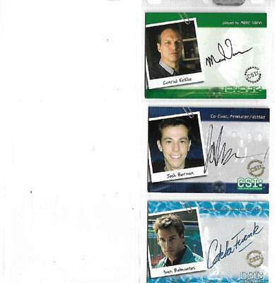 CSI : Crime Scene Investigation 3 ***** binder exclusive ***** Autograph Cards