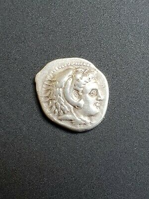 Macedonian Silver Drachm VF-XF Alexander III (336-300 BC) Ancient Coin - Roman