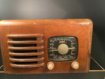 Vintage Zenith Radio (Decor Only) Cord Missing