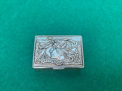 Lovely Vintage Sterling Silver 925 Pill Snuff Box.