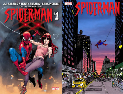 Marvel Spider-Man #1 Olivier Coipel Main & Jason Polan Variant Set 2019 NM 9-18