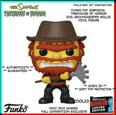 Funko Pop Simpsons Evil Groundskeeper Willie Nycc 2019 Shared Exclusive Presale