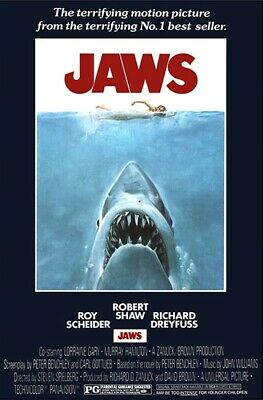 JAWS | NEW LARGE ROLLED 24X36 MOVIE POSTER |Premium Poster
