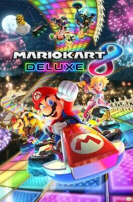 MARIOKART 8 DELUXE | NEW LARGE ROLLED 24X36 VIDEO GAME POSTER |Premium Poster