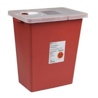 Sharps Container, SharpSafety 1-Piece, 8 Gallon 8980 Each