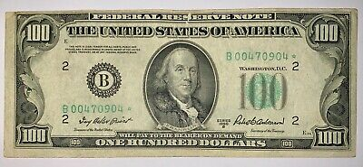 1963-A ONE HUNDRED Dollar Small Federal Reserve Note F F