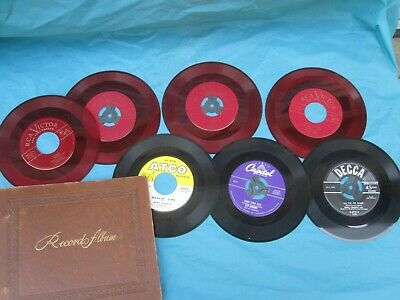 Vintage 45 RPM Record Book 12 Sleeve w/4 RCA Victor Red Seal Records  & 3 other