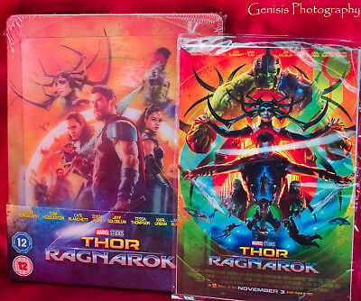 Thor Ragnarok - Zavvi Lenticular Steelbook (3D + Blu-ray) Sold Out + Art Cards *