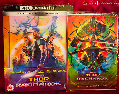 Thor Ragnarok Zavvi Lenticular Steelbook (Blu-ray + 4K UHD) Sold Out+Art Cards *