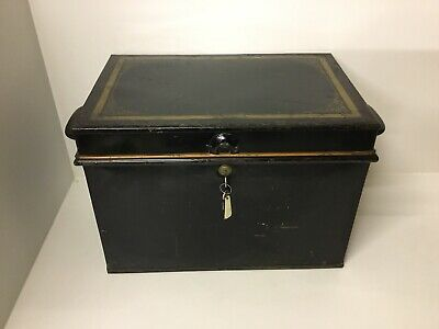 Vintage Milners Large Safe Cash Box With 2 Keys