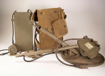 Military Us Army Wwii Signal Corps Mine Sweeper Metal Detector 11060 1944