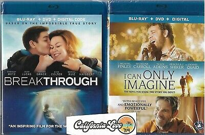 Breakthrough + I Can Only Imagine Blu-Ray + Dvd 2-Movie God ✔☆Mint☆✔ No Digital