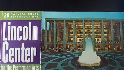New York State Theatre Lincoln Center Performing Arts Postcard Fountain  1964