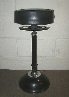 Antique 1930's RITTER REST AND RELIEF Cast Iron and Chrome Dental Stool #2