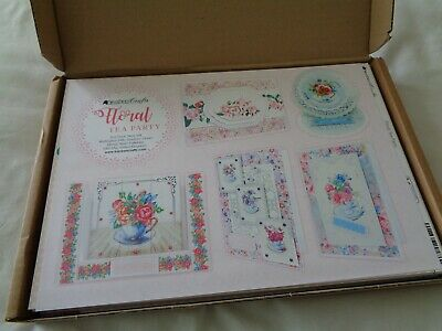 100 Sheets Of Kanban Crafts Floral Tea Party ~ A4 Card Making Kit