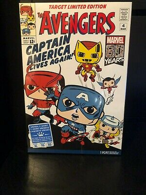 FUNKO POP TEES! Marvel 80th Avengers Target Exclusive T-Shirt Size Med-2XL