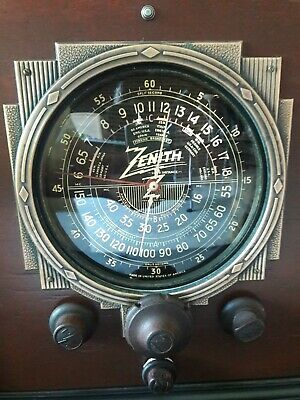 Antique ,Vintage, Deco ,Collectible - Old Tube Radio Zenith Ch 5619 Restored