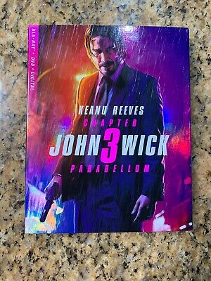 John Wick Chapter 3 Parabellum Blu Ray + DVD.   Digital Copy Not Included