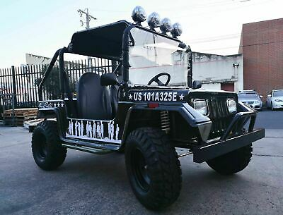 Classic Jeep 200cc OFFROAD Twin Seat For Adult Kids Buggy Go Kart hunting