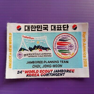 24th World Scout Jamboree 2019 KOREA Contingent  PATCH / 2023 WSJ JPT #1 badge