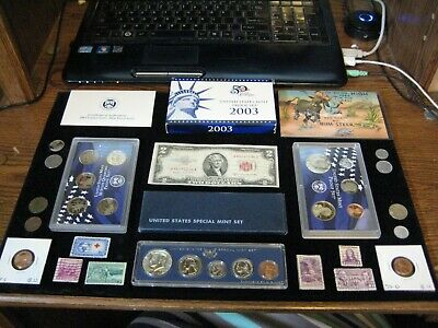 Junk Drawer Coin Lot 1966 SILVER MINT SET Two Dollar Red Seal Proof Coins stamps