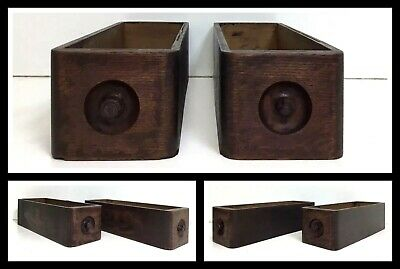 2 Antique Early 1900's Singer Treadle Sewing Machine Cabinet Drawers Oak