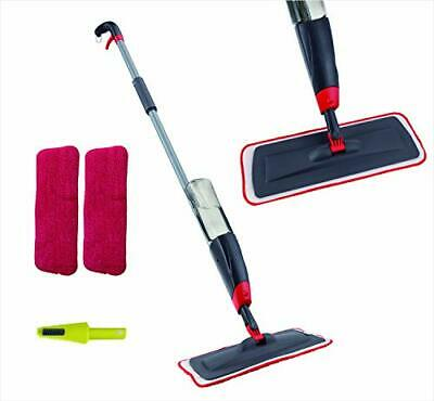 Venetio Premium Spray Mop 2 Reusable Microfiber Pad 360 Degree Rotation Joint fo