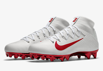 $200 Nike Vapor Untouchable 2 football cleats, sz 12, white/red 917165-009 NEW!