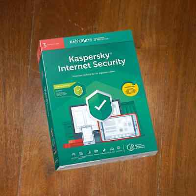 KASPERSKY INTERNET SECURITY 3PC 2 Years for 2019 / 2020 NEW - NOT PREACTIVATED