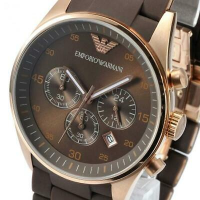 Emporio Armani AR5890 Mens Watch Price Rose Gold Silicone Womens Watch