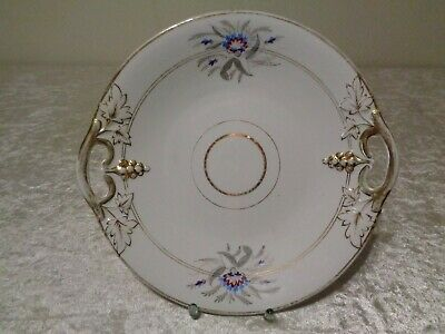 Antique Porcelain Ornamental Plate/Platter with Handles - around 1910 - 26,5 CM
