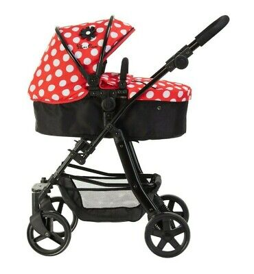 Silver Cross Pioneer 5 in 1 Dolls Pram - LIMITED EDITION Red Polka Dot