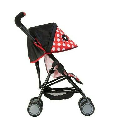 Silver Cross Pop Max Dolls Pushchair - LIMITED EDITION Red Polka Dot Fabric
