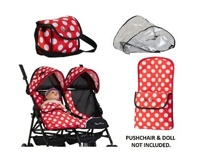 Silver Cross Pop Twin Universal Dolls Accessory Pack - LIMITED EDITION Red Polka