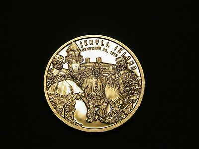 1 OZ SILVER COIN 999 - Jekyll Island. US Federal Reserve Formation