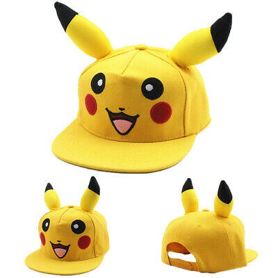 Unisex Kids Pokemon Pikachu Baseball Cap Casual Travel Hat Adjustable Snapback