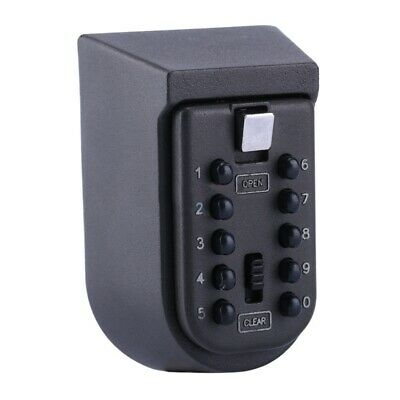 Outdoor Wall Mount Spare Key Safe Box Lock Holder Water Weatherproof M5Y2