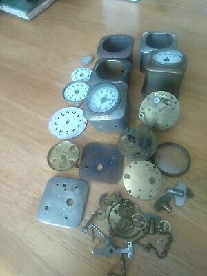 Small Antique Clocks and Parts 2 In Cases+ 4 In Parts