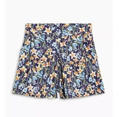 NEXT Baby Girls Floral Shorts Age 12-18 Months Navy Blue Multi Holiday 1-1.5 Yr