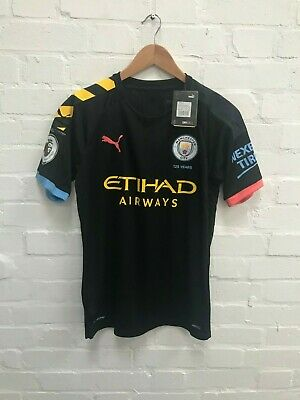 Manchester City Puma Men's 2019/20 Away Shirt - S - Bernardo 20 New with Defect