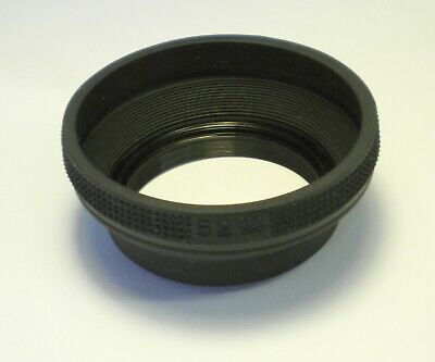 Collapsible Rubber Lens Hood 52mm Made in Japan