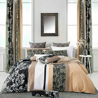 Marble Grey Duvet Quilt Cover Bedding Set & Pillowcases Single Double King Size
